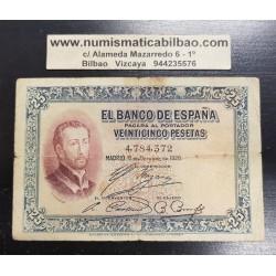 ESPAÑA 25 PESETAS 1926 SAN FRANCISCO JAVIER Sin Serie 4784372 Pick 71 BILLETE CIRCULADO @RARO@ Spain banknote