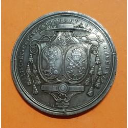 @SUPER RARA@ ESPAÑA 1789 MEDALLA DE PROCLAMACION de CARLOS IV EN GUADALAJARA (MEXICO) PLATA módulo 8 REALES