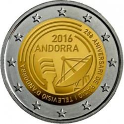 ANDORRA 2 EUROS 2016 RADIO y TELEVISION 25 ANIVERSARIO SC @RARA@ Fecha de emisión Andorra 2 Euros 2017