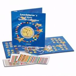 ALBUM LEUCHTTURM PARA MONEDAS PRESSO 2 EURO SPECIAL-COLLECTION capacidad para 57 MONEDAS de 2 EUROS