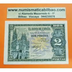 ESPAÑA 2 PESETAS 1938 CATEDRAL DE BURGOS Serie C 1845045 Pick 109A BILLETE PLANCHA SIN CIRCULAR Spain