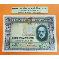 ESPAÑA 50 PESETAS 1935 SANTIAGO RAMON y CAJAL Sin Serie 2035868 Pick 88 BILLETE EBC @DOBLEZ@ Spain