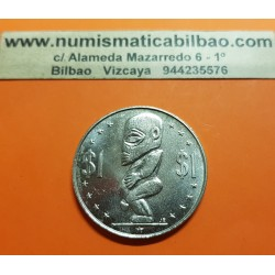ISLAS COOK 1 DOLAR 1973 DIOS TANGAROA KM.7 MONEDA DE NICKEL SC @ESCASA@ Cook Islands 1 Dollar Divinity