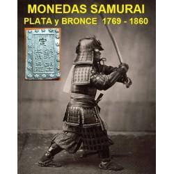 @MONEDAS DE LOS SAMURAIS@ JAPON 1 BU GIN 1837 1854 TEMPO EDO @FORMA DE LINGOTE@ KM.C16 PLATA LUJO Japan silver coin ICHIBU 1