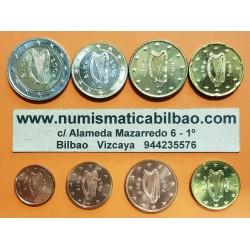 IRLANDA MONEDAS EURO 2017 SC 1+2+5+10+20+50 Centimos + 1 EURO + 2 EUROS 2017 SERIE TIRA Ireland Eire coins