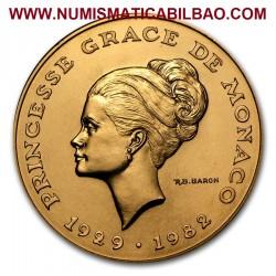 @RARA@ MONACO 10 FRANCOS 1982 GRACE KELLY KM.E73 MONEDA DE LATON @LUJO@ brass 10 Francs DISEÑO SIMILAR A 2 EUROS 2007 Francs
