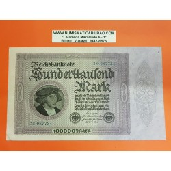 ALEMANIA 100000 MARCOS 1923 WEIMAR EPOCA DE HIPER INFLACION Pick 83 BILLETE EBC Germany 100000 Marks REICHSBANKNOTE