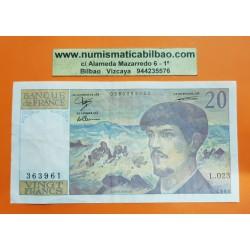 FRANCIA 20 FRANCOS 1988 DEBUSSY Serie L.02332 Pick 151E BILLETE MBC France 20 Francs banknote