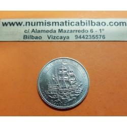 @OFERTA@ 1 PESO 1992 BARCO GALEON HISTORIA POSTAL y CORREO MARITIMO DEL ESTADO KM.368 MONEDA DE NICKEL SC