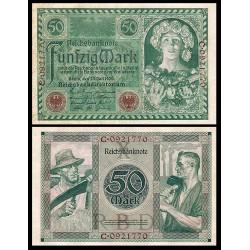ALEMANIA 20 MARCOS 1920 MUJER CON FRUTAS y TRABAJADORES Serie C Pick 68 BILLETE SC Germany 20 Reichsmark UNC BANKNOTE