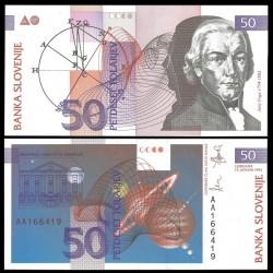 ESLOVENIA 50 TOLARJEV 1992 JURIJ VEGA PICK 13 BILLETE SC SLOVENIJA BANKNOTE