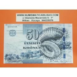 FEROE ISLAS 50 KRONUR 2011 CONCHA MARINA y ACANTILADOS FOROYAR Pick 29 BILLETE SC Faeroe Islands UNC BANKNOTE