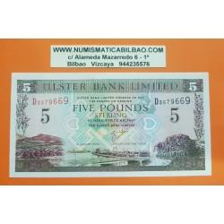 IRLANDA DEL NORTE 5 LIBRAS 2001 ULSTER BANK LIMITED ESCUDO Pick 335 BILLETE SC Northern Ireland Eire 5 Pounds UNC BANKNOTE