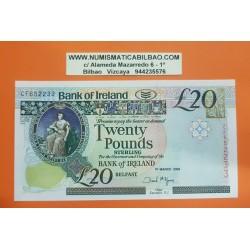 IRLANDA DEL NORTE 20 LIBRAS 2005 THE QUEEN'S UNIVERSITY OF BELFAST Pick 80B BILLETE SC Ireland Eire 20 Pounds UNC BANKNOTE