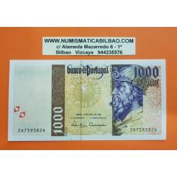 PORTUGAL 1000 ESCUDOS 1996 PEDRO ALVARES CABRAL y GALEON Pick 188 BILLETE SC Portuguese UNC BANKNOTE