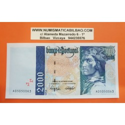 PORTUGAL 2000 ESCUDOS 1995 BARTOLOMEU DIAS y BARCO ANTIGUO Pick 189 BILLETE SC Portuguese UNC BANKNOTE