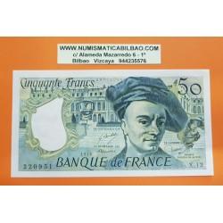 FRANCIA 50 FRANCOS 1978 QUENTIN DE LA TOUR Serie X12 Pick 152 BILLETE SC France 50 francs