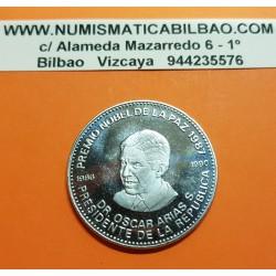 COSTA RICA 100 COLONES 1987 OSCAR ARIAS PREMIO NOBEL DE LA PAZ KM.224 MONEDA DE NICKEL SC @RARA@