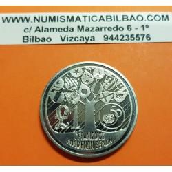 CHIPRE 1 LIBRA 1995 ARBOL OCN BANDERAS 50 AÑOS DE LAS NACIONES UNIDAS ONU KM.70 MONEDA DE NICKEL SC @ESCASA@ 1 Pound