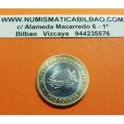GIBRALTAR 2 LIBRAS 2013 BATTLE OF TRAFALGAR 1805 BARCOS PIRATAS KM.1106 MONEDA BIMETALICA SC 2 Pounds Inglaterra