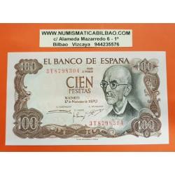 ESPAÑA 100 PESETAS 1970 MANUEL DE FALLA Serie 3T Pick 152 BILLETE SC SIN CIRCULAR Spain banknote