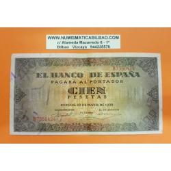 ESPAÑA 100 PESETAS 1938 BURGOS CASA DEL CORDON Serie B 7350424 Pick 113 BILLETE MBC Spain banknote