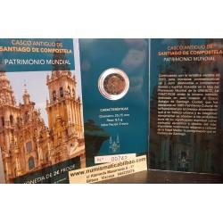 @PROOF 7.500 monedas@ ESPAÑA 2 EUROS 2018 CASCO ANTIGUO DE SANTIAGO DE COMPOSTELA CARTERA FNMT EURO 2018 @RARA@