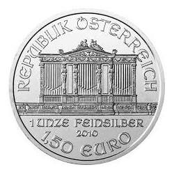 AUSTRIA 1,50 EUROS 2010 FILARMONICA MONEDA DE PLATA PURA 999 SC 1 ONZA OZ OUNCE Österreich silver Philharmonic EURO