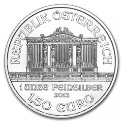 AUSTRIA 1,50 EUROS 2013 FILARMONICA MONEDA DE PLATA PURA 999 SC 1 ONZA OZ OUNCE Österreich silver Philharmonic EURO