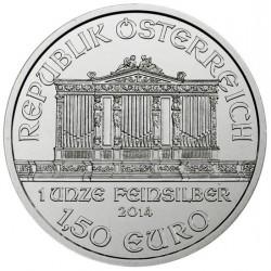 AUSTRIA 1,50 EUROS 2014 FILARMONICA MONEDA DE PLATA PURA 999 SC 1 ONZA OZ OUNCE Österreich silver Philharmonic EURO