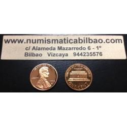 ESTADOS UNIDOS 1 CENTAVO 1963 ABRAHAM LINCOLN KM.201 MONEDA DE COBRE PROOF USA 1 Cent coin