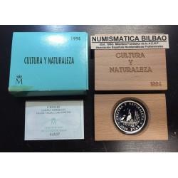 ESPAÑA CULTURA y NATURALEZA 1ª SERIE 2000 PESETAS 1994 GARZAS IMPERIALES MONEDA DE PLATA ESTUCHE y CERTIFICADO FNMT