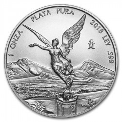 @1 ONZA 2018@ MEXICO 1 ONZA 2018 ANGEL LIBERTAD MONEDA DE PLATA PURA 999 SC Mejico silver coin OZ OUNCE