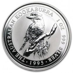 AUSTRALIA 1 DOLAR 1995 KOOKABURRA MONEDA DE PLATA PURA SC $1 Dollar Coin ONZA OZ OUNCE CAPSULA
