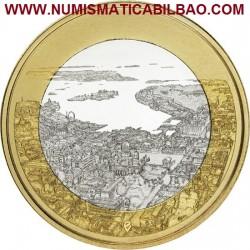 FINLANDIA 5 EUROS 2018 PAISAJES NACIONALES Nº 2 CIUDAD DE HELSINKI SC moneda bimetálica