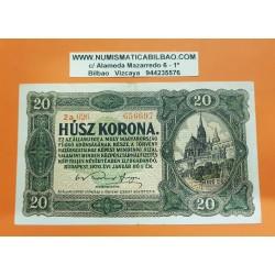 HUNGRIA 20 KORONA 1920 PRECIOSO CASTILLO Pick 61 BILLETE MBC+ Hungary BANKNOTE