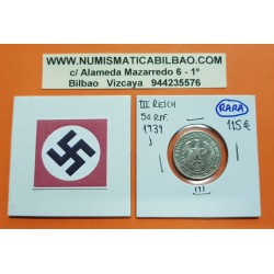 ALEMANIA 50 REICHSPFENNIG 1939 J ESVASTICA NAZI III REICH MONEDA DE NICKEL @LUJO@ 1