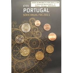"""PORTUGAL CARTERA OFICIAL EUROS 2011 SC 1+2+5+10+20+50 CENTIMOS + 1 EURO + 2 EUROS 2011 BU SET KMS """"TIPO CARTON"""""""