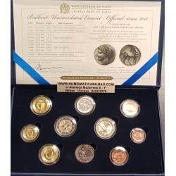 MALTA CARTERA OFICIAL EUROS 2011 SC 1+2+5+10+20+50 Centimos + 1 EURO + 2 EUROS 2011 + 2 EUROS 2011 VOTOS KMS BU SET
