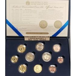 MALTA CARTERA OFICIAL EUROS 2013 SC 1+2+5+10+20+50 Centimos + 1 + 2 EUROS 2013 + 2 EUROS 2013 CON MARCA DE CECA KMS BU SET