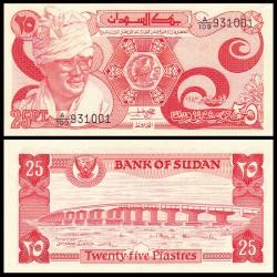 AFRICA DEL SUR 25 PIASTRAS 1983 REY CON TURBANTE y PUENTE Pick 23 BILLETE SC UNC BANKNOTE 25 Piastres North
