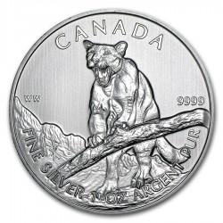 CANADA 5 DOLARES 2012 WILDLIFE COUGAR PUMA MONEDA DE PLATA PURA 9999 SILVER $5 Dollars coin 1 ONZA OUNCE OZ