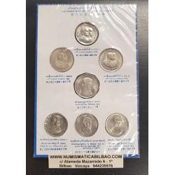 7 MONEDAS x TAILANDIA 1 BAHT 1966 1970 1972 1975 1977 1978x2 REY RAMA IX NICKEL SIN CIRCULAR THAILAND SOUVENIR COIN SET