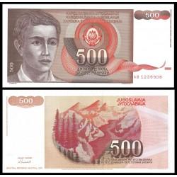 YUGOSLAVIA 500 DINARA 1991 NIÑO y PAISAJE MONTAÑOSO Pick 109 BILLETE SC 500 Dinar UNC BANKNOTE