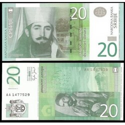 SERBIA 20 DINARA 2006 CURA ORTODOXO MILUTIN LILANKOVIC Pick 47 BILLETE SC UNC BANKNOTE 20 Dinares EX-YUGOSLAVIA