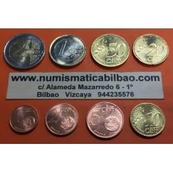MONACO MONEDAS EURO 2001 SC 1+2+5+10+20+50 CENTIMOS 1 EURO + 2 EUROS 2001 RAINIERO III @PRIMER AÑO DE EMISION@