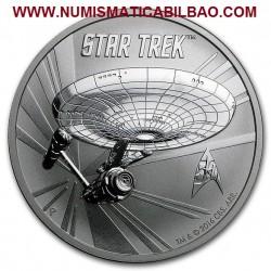 @RARA@ TUVALU 1 DOLAR 2016 STAR TREK USS ENTERPRISE MONEDA DE PLATA PURA SC $1 Dollar coin 1 ONZA 2016 OZ OUNCE