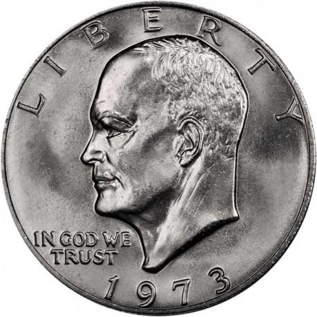 USA 1 DOLLAR 1973 P EISENHOWER NICKEL UNC