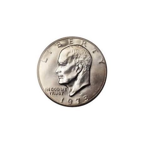 USA 1 DOLLAR 1973 D EISENHOWER NICKEL UNC