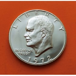 ESTADOS UNIDOS 1 DOLAR 1972 S PRESIDENTE EISENHOWER KM.203A MONEDA DE PLATA @PROOF@ USA 1 silver Dollar